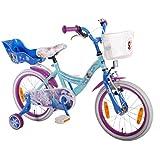 Kinderfahrrad Disney Frozen - Die Eiskönigin 10 Zoll, 12 Zoll, 16 Zoll Mädchen Fahrrad Rücktrittbremse blau weiß