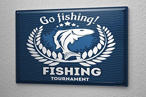 Plaque émaillée Maison Pêcheur Aller à la pêche La Pêche Sportive Haute Mer