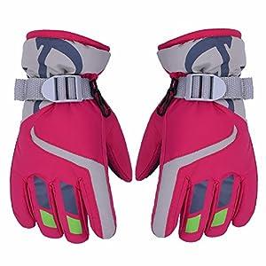 AONIJIE Kinder Ski Handschuhe Wasserdicht Winddicht Warme Futter Outdoor Sports Snow Handschuhe Für 3-8 Jahre Alt Junge & Mädchen