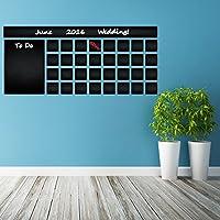 (120 x 53 cm), in vinile, decalcomania da parete, motivo: Lavagna con calendario To Do List/lavagna adesivo da parete, motivo: calendario mensile cancellabile, per disegnare con matite