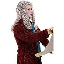 WIG ME UP ® - WIG002-K309 Peluca hombres Carnaval Barroco Renacimiento noble juez principe
