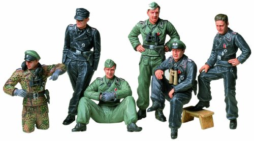 Tamiya 300035201 - set statuette soldati tedeschi della seconda guerra mondiale, scala: 1:35, 6 pz.