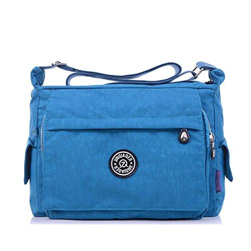 Outreo Umhängetasche Damen Schultertasche Mode Taschen Designer Messenger Bag Leichter Kuriertasche Wasserdicht Reisetasche für Sporttasche Blau 2