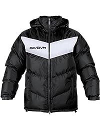 Abbigliamento sportivo Givova Abbigliamento Sportivo Jacket Giubbotto Podio Nero-bianco S