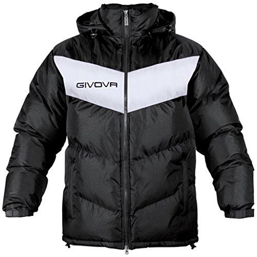 Givova Podio Giubbotto, Nero/Bianco, XL