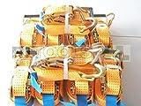 10 x 5000 kg SPANNGURT 9m EN 12195-2 Ratsche Zurrgurt