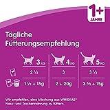 Whiskas Katzenfutter 1+ für erwachsene Katzen – saftige Fisch- und Geflügel-Auswahl in Gelee/84 Portionsbeutel (84 x 100 g) - 4