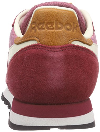 Reebok - Classic Leather Chambray, Sneakers da uomo Rosso (Rot (Triathlon Red/Paperwhite/Chalk/Black))