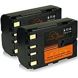Bundle - 2x Power Batterie BN-V408 / BN-V408U pour JVC CU-VH1 | GR-D20 | GR-D21 | GR-D22 | GR-D23 | GR-D30 | GR-D31 | GR-D33 | GR-D40 | GR-D50 | GR-D51 | GR-D53 | GR-D60 | GR-D70 | GR-D72 | GR-D73 | GR-D90 | GR-D91 | GR-D92 | GR-D93 | GR-D200 | GR-D201 | GR-D220 | GR-D230 | GR-DV400 | GR-DV500 | GR-DV600 et bien plus encore...