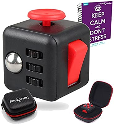 Fidget Cube Anxiety Attention Toy With BONUS CASE + eBook Included - Relieves Stress And Anxiety And Relax for Children and Adults BONUS EBOOK is sent by email