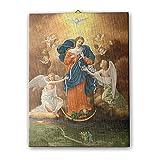 Holyart Quadro su Tela pittorica Madonna dei Nodi 40x30 cm