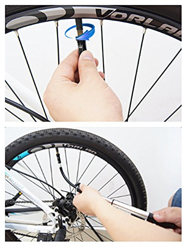 Langlebiges Aluminium Legierung Mini Bike Boden Pumpe Left Hand