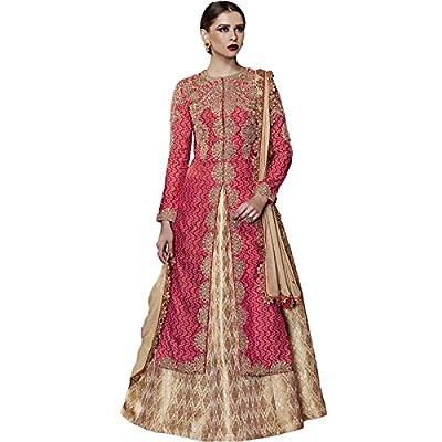 Impressed Collection Red Silk Party Wear Salwar Kameez