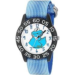 eWatchFactory Boy's 'Sesame Street' Quartz Plastic and Nylon Automatic Watch, Color:Blue (Model: W003202)