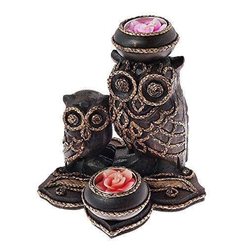 AeraVida Liebenswürdig, Mutter und Baby Eule Regen Baum Holz Teelichthalter (Baum Teelichthalter)