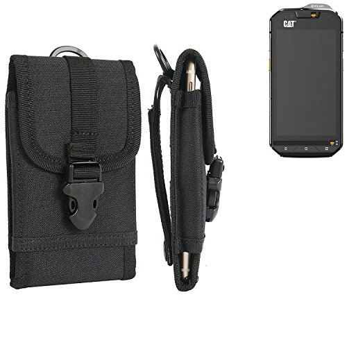 K-S-Trade Handyhülle für Cat S60 Gürteltasche Handytasche Gürtel Tasche Schutzhülle Robuste Handy Schutz Hülle Tasche Outdoor schwarz -