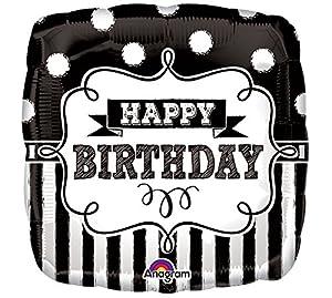 Amscan International 3445201 - Pizarra de Pizarra con Globo de Papel de Aluminio para Fiesta de cumpleaños