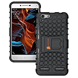 #7: Aimbeeii Tough Hybrid Armour Shockproof Hard Pc + Tpu With Stand Rugged Back Case Cover For Lenovo Vibe K5