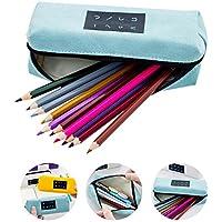 Aolvo Kawaii Estuche para lápices, estilo japonés, con cremallera, gran capacidad, color