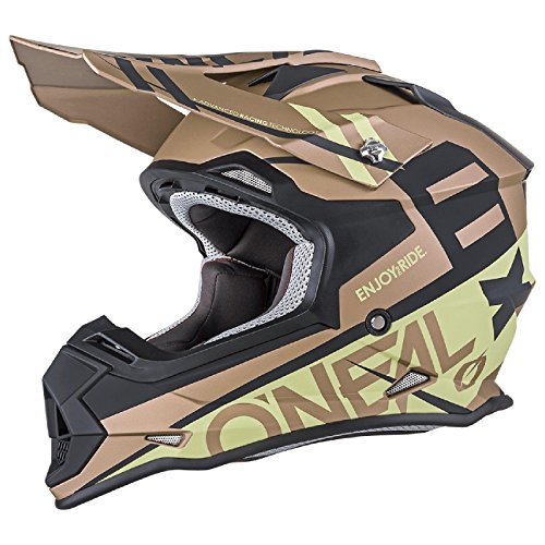yde Motocross MX Helm Enduro Trail Quad Cross Offroad, 0200, Farbe Gold, Größe L (Gold Atv Helm)