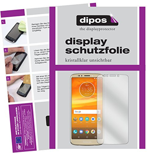 dipos I 6X Schutzfolie klar passend für Motorola Moto E5 Plus Folie Displayschutzfolie (3X Vorder- & 3X Rückseite)