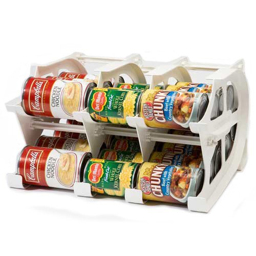 Preisvergleich Produktbild FIFO Mini Can Tracker- Food Storage Canned Foods Organizer / Rotater / Dispenser: Kitchen,  Cupboard,  Pantry- Rotate Up To 30 Cans by FIFO