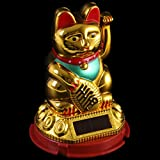 Lucky Waving Solar Powered Cat Chinese Oriental Fortune Golden Effect Car Window - Hunky Dory Gifts - amazon.co.uk