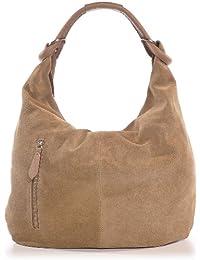 CNTMP, Mesdames sacs à main, sacs hobo, sacs à bandoulière, sac, sacs, sacs à la mode, velours, suède, daim, sac en cuir, A4, 44x36x4cm (L x H x P)