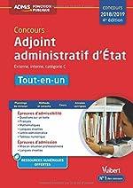 Concours Adjoint administratif d'État - Catégorie C - Tout-en-un Concours 2018-2019 de Pierre Brice Lebrun
