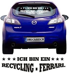 Autoaufkleber Fb Silber Recycling Ferrari Auto