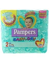 Pampers Baby Dry Pannolini Mini, Taglia 2 - Confezioni da 24 x 3-6 Kg