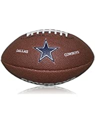 Wilson Football Wilson NFL Cowboys Logo Mini - Balón de fútbol americano ( caucho ) , color marrón, talla Mini