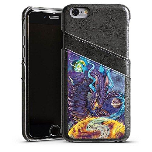 Apple iPhone 5 Housse étui coque protection Dragon Imagination Rêve Étui en cuir gris