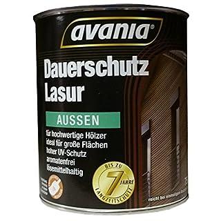 Avania Dauerschutz Lasur lösemittelhaltig Seidenglänzend 2,5 L Farbton Wählbar, Farbe:Teak