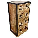 Indoortrend.com Kommode Apothekerkommode Apotheker-Schrank Sideboard Anrichte Schubladen Design