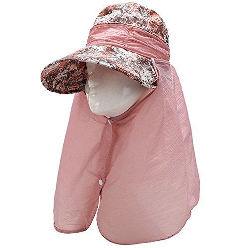 Kostüme Desperado Cowboy (XY Fancy Damen modisch Sonnenschirm-Hut Breit Rand Sommer Sonne Klappe Cap Hut Hals Gesicht abdecken UPF)