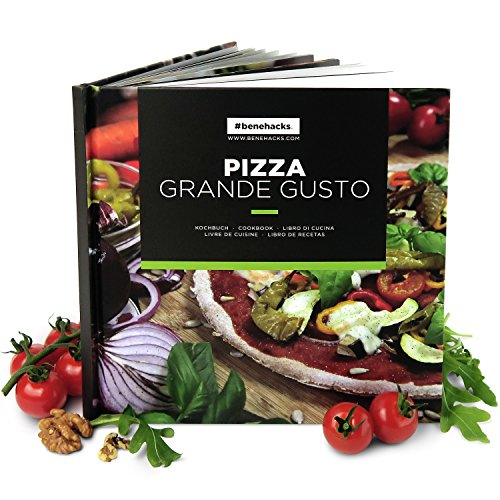 #benehacks® Pizzabuch Grande Gusto - raffinierte Pizzarezepte zum selber machen - 48 Seiten innovativer Gaumenschmaus, 1 Stück