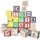 perfeclan 50x Bloque de Madera Alfabeto ABC Números Cubo Apilamiento Juguetes Juegos Bebés Primera Infancia