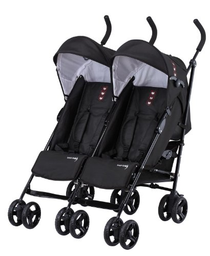 Knorr-baby 832100 Passeggino gemellare Side by Side, colore: Nero