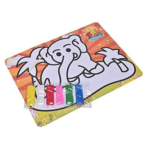 Kalaokei Kids Child Cartoon Animal Sand Painting Bild p?dagogische Kratschen-Paint Toys