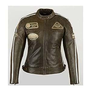 blouson moto femme cuir vintage 44. Black Bedroom Furniture Sets. Home Design Ideas