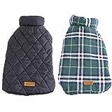 Generic Dog Waterproof Reversible Plaid Jacket Coat Winter Warm Clothes Green XXL