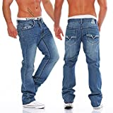 Antique Rivet Herren Jeans Hose Jeanshose Mike (L34/W32)