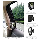 #3: 2PCS Blind Spot Mirror 270° Adjustable Convex Mirror - HD Wide Angle Auto Mirrors - Car Rear Seat Rearview View Mirror