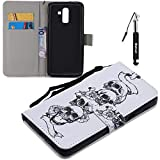 Huphant Compatible for Galaxy J8 Hülle, Samsung Galaxy J8 Leder Tasche Flip Schutzhülle Wallet Case für Samsung Galaxy J8 Handytasche Kartenfächer Magnet Tasche Flip Cover Wallet Case -Shantou