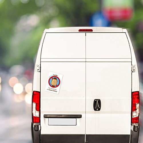 100 Parkaffe Aufkleber – scheiße geparkt in der Einfahrt – Verwarnung für Falschparker - 5