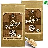 Braunhirse 2x1kg fein vermahlen - Rohkost aus deutschem BIO-Anbau (Naturland-Anbau) - GLUTENFREI und basenbildend für eine gute Silicium-Versorgung aus dem vollen Korn.