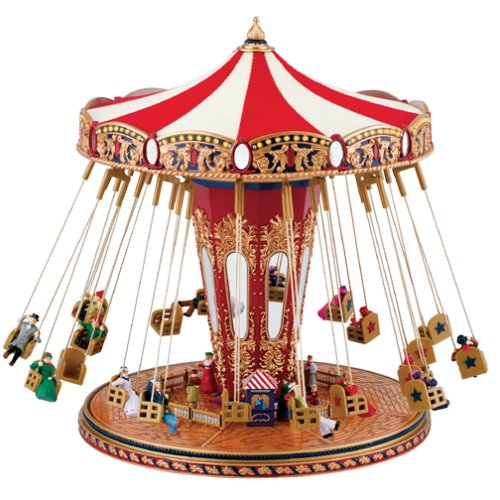 Gold-Label-monde-juste-Swing-Carrousel-boite–musique