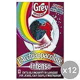 Set 12 GREY AcchiappaColore INTENSO * 16 Fogli Detergenti casa
