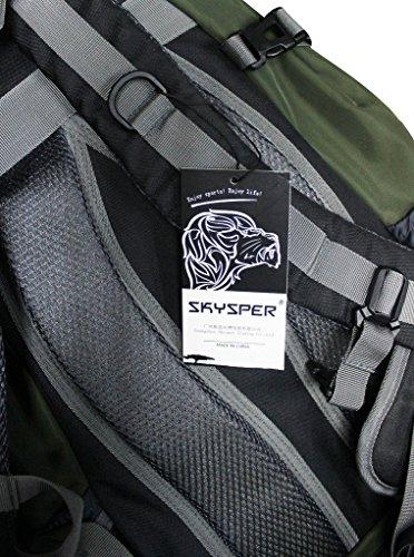Skysper- Zaino da Viaggio Campeggio Per Escursioni 20-35L Rosso blu